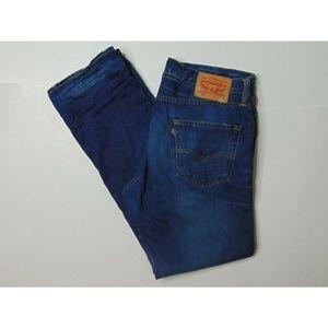 Levi's 504 34 X 32 Blue Jeans Denim Straight Leg